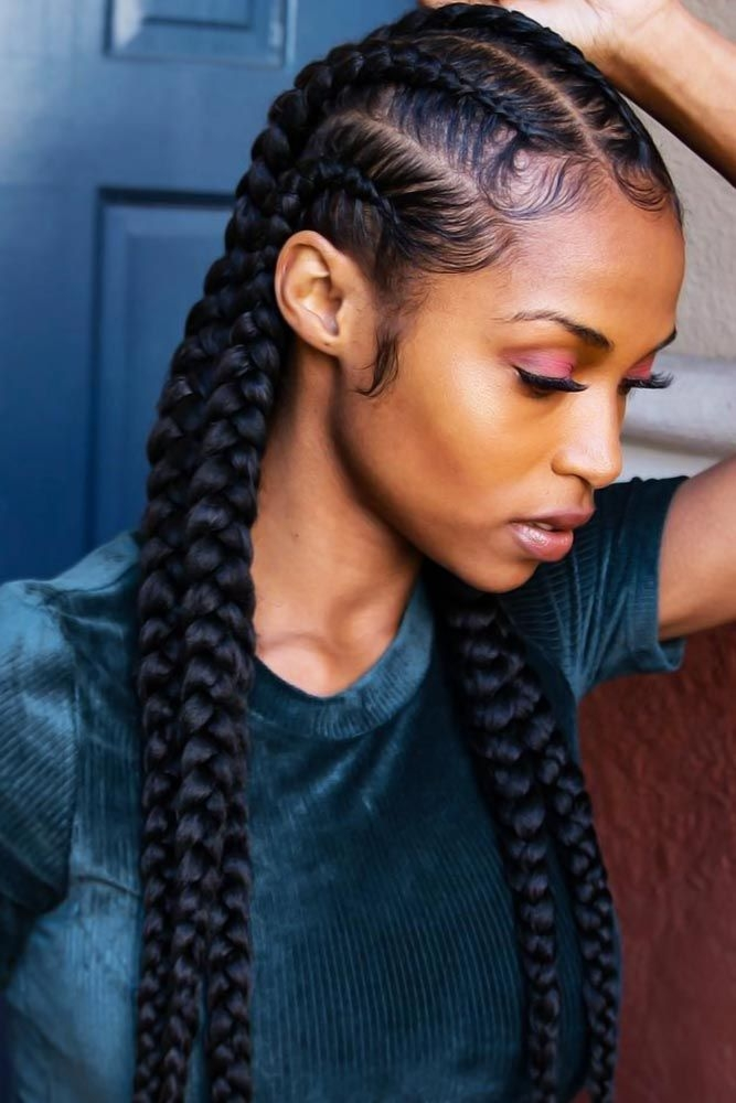pin on protective styles Black Braids Hair Styles Ideas