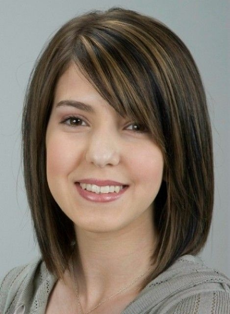 pin on wardrobe hair and makeup Medium Short Hairstyles For Round Faces And Thick Hair Ideas