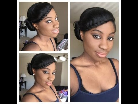 simple protective style relaxed hair short relaxed Protective Styles For Short Relaxed Hair Pinterest Inspirations