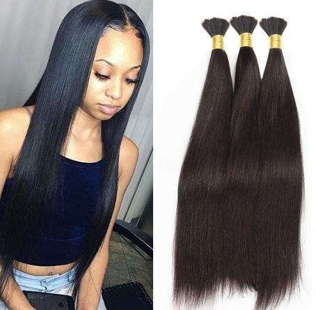 straight braiding hair bulk no weft crochet braids with silky straight style human hair for micro braids soft bulk braiding hair human hair bulk Braids With Human Hair Styles Ideas