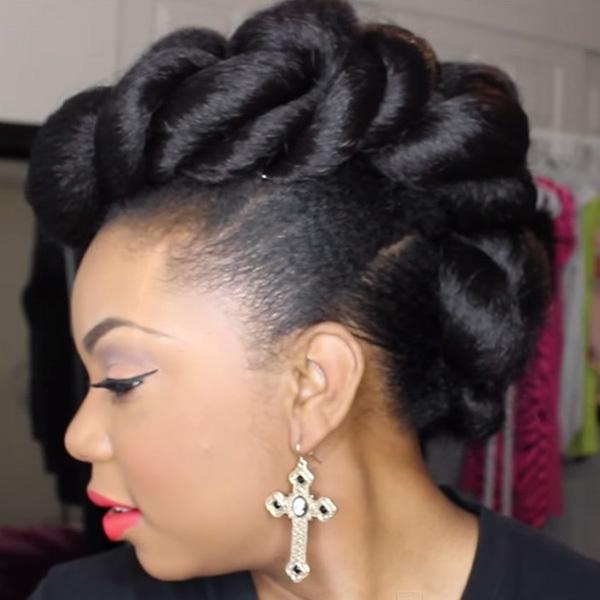 stunning wedding hairstyles for black women more African American Braid Hairstyles For Weddings