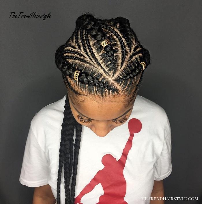 Stylish 1 feed in braids with cuff beads 20 super hot cornrow Corn Row Hair Styles Braids Inspirations