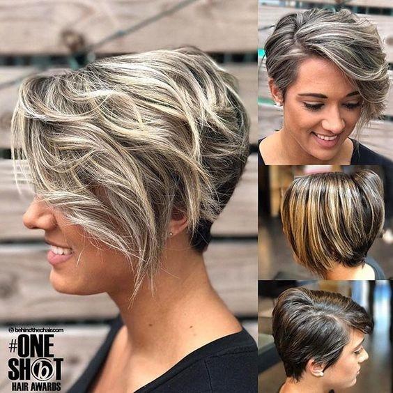 Stylish 10 balayage short hairstyles with tons of texture short Short Hairstyles And Color Ideas Inspirations