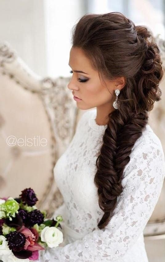 Stylish 10 pretty braided hairstyles for wedding wedding hair French Braid Hairstyles For Weddings Ideas