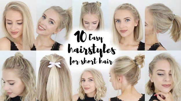 Stylish 10 short hairstyles looking for cute and easy back to Back To School Hairstyles For Short Hair Easy Ideas
