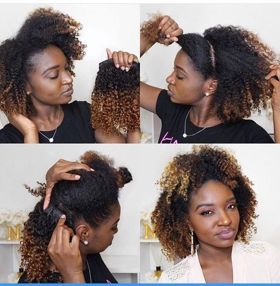 Stylish 10 winter protective hairstyles for 4c natural hair 4c Hair Extension Styles For African American Hair