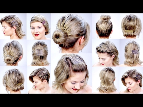 Stylish 11 super easy hairstyles with bob pins for short hair Short Hair Quick Styles Choices