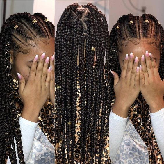 Stylish 12 easy winter protective natural hairstyles for kids African American Braid Styles For Teenagers Designs