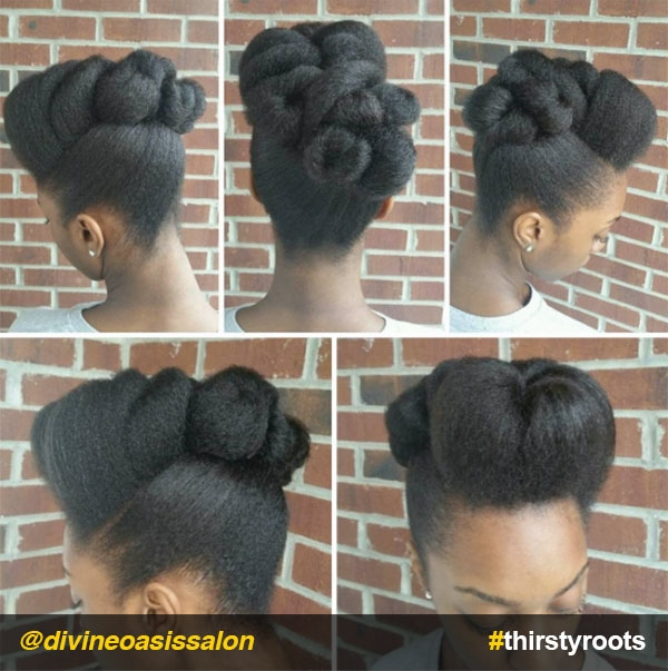 Stylish 13 natural hair updo hairstyles you can create African American Hairstyles I Can Do At Home