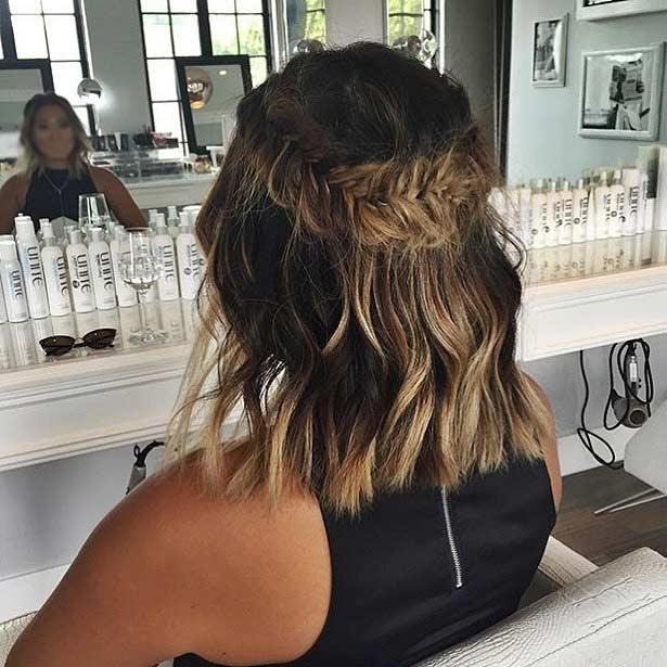 Stylish 17 chic braided hairstyles for medium length hair stayglam Braided Hairstyles For Thick Layered Hair Ideas