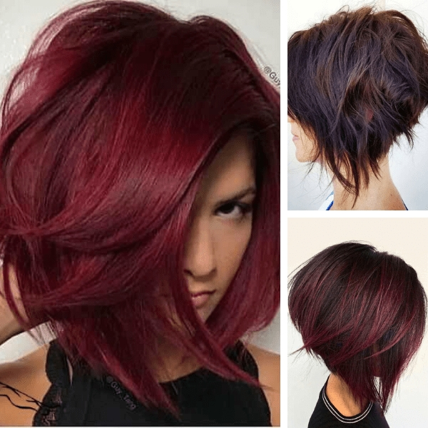 Stylish 17 unique womens mahogany red short hairstyles 2021 Red Short Hair Styles Inspirations