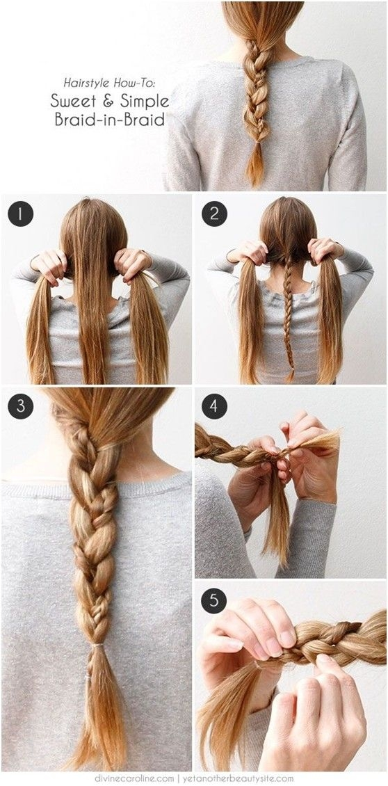 Stylish 20 cute and easy braided hairstyle tutorials Easy Braided Hairstyles To Do At Home Step By Step Ideas