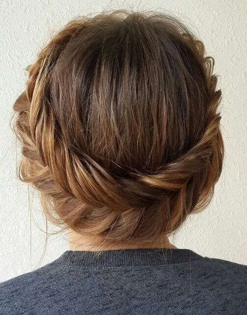 Stylish 20 easy and pretty updo hairstyles for mid length hair Braided Updo Hairstyles For Medium Hair Choices