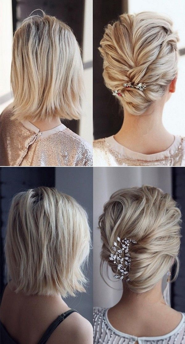 Stylish 20 medium length wedding hairstyles for 2021 brides Pictures Hairstyles For Bridesmaids With Short Hair Ideas