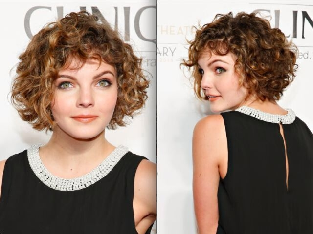 Stylish 21 trendy hairstyles to slim your round face popular Short Haircuts For Round Faces And Curly Hair Ideas