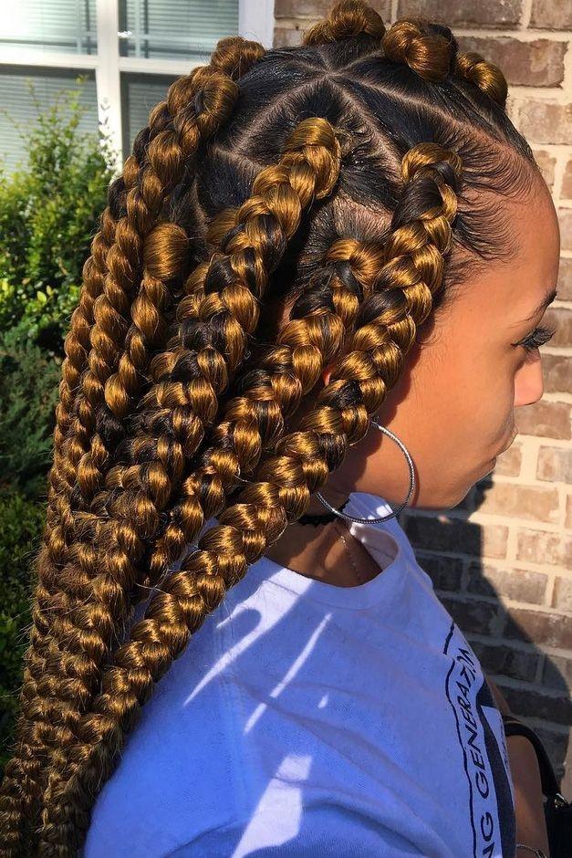 Stylish 25 beautiful black women show us how to slay in jumbo braids African American Big Braids