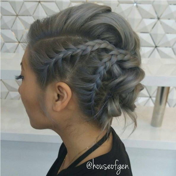 Stylish 25 chic braided updos for medium length hair hairstyles weekly Fashionable Braid Hairstyle For Shoulder Length Hair Inspirations