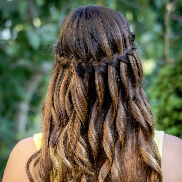 Stylish 26 sweet waterfall french braid hairstyles slodive French Braided Hair Styles Inspirations