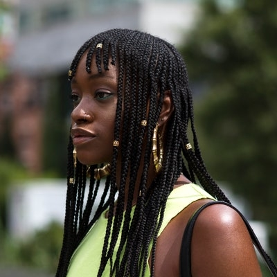 Stylish 28 dope box braids hairstyles to try allure African American Braids With Bangs Designs
