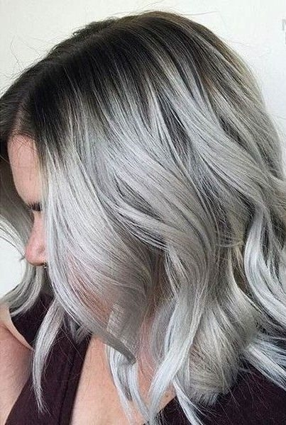 Stylish 28 impressive silver gray ombre for short hair to put you on Gray Short Haircuts Inspirations