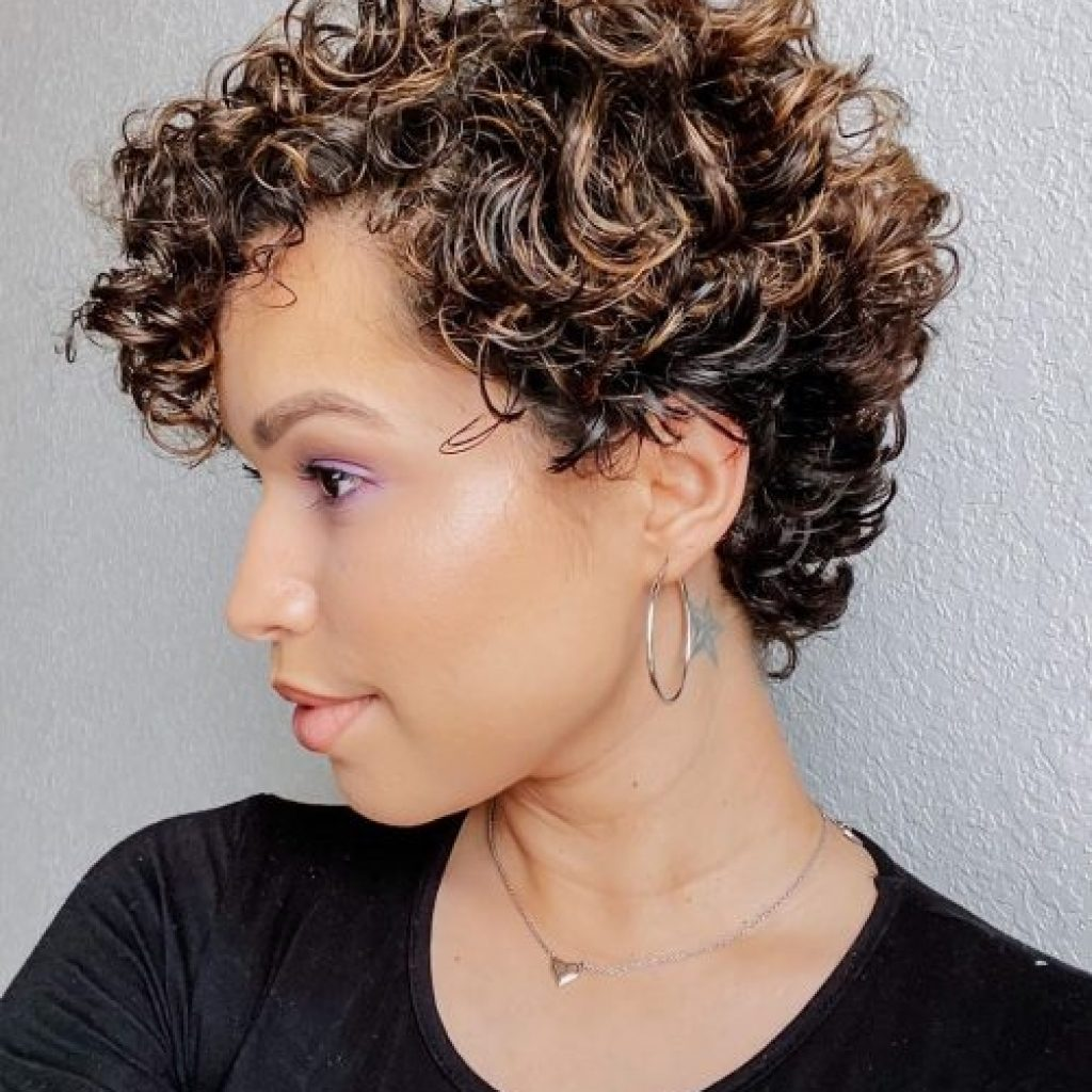 Stylish 29 short curly hairstyles to enhance your face shape Curls On Short Hair Styles Inspirations