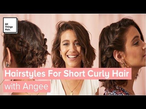 Stylish 3 easy hairstyles for short curly hair with and without heat Cute Easy Hairstyles For Short Wavy Hair Ideas