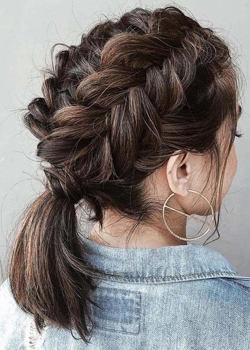 Stylish 30 best french braid short hair ideas 2019 short haircut Cute Hairdos For Short Hair Braids Inspirations