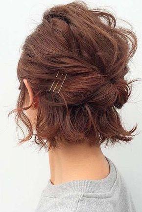 Stylish 30 so cute easy hairstyles for short hair lovehairstyles Cute Easy Updo Hairstyles For Short Hair Ideas