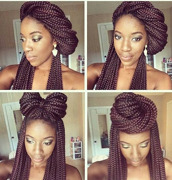 Stylish 35 bombass ways to style your bodacious box braids Styles For Packing Braided Hair Choices