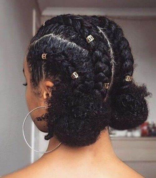 Stylish 35 natural braided hairstyles Braiding Style With Natural Hair Inspirations