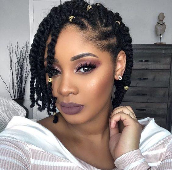 Stylish 35 natural braided hairstyles without weave Braid Styles On Natural Hair Ideas