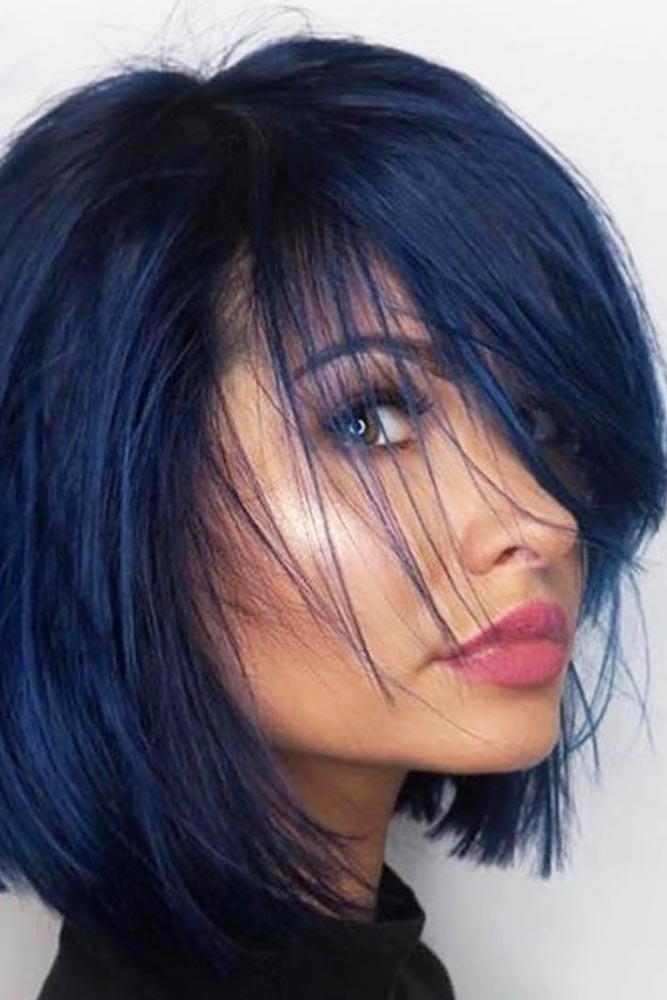 Stylish 36 easy styling and cute side bangs lovehairstyles Hairstyle For Short Hair With Side Bangs Ideas