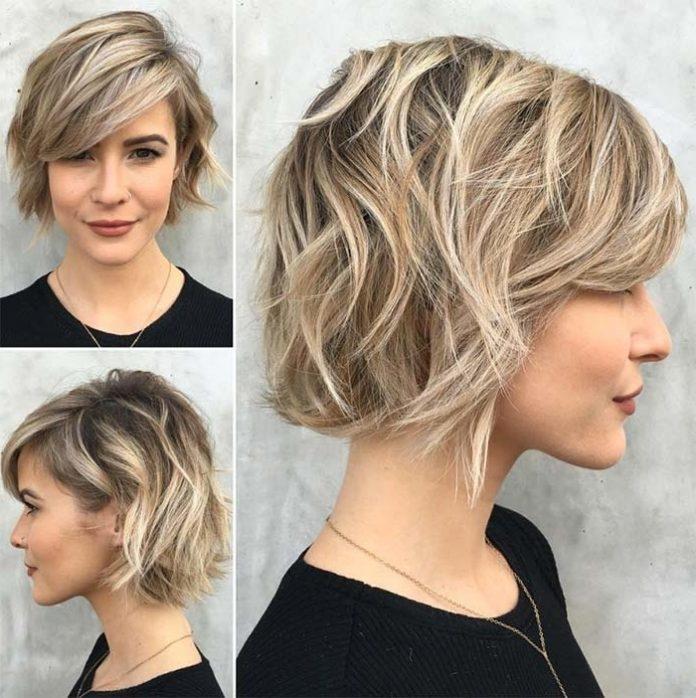 Stylish 38 short layered bob haircuts with side swept bangs that Short Layered Haircuts With Bangs Inspirations