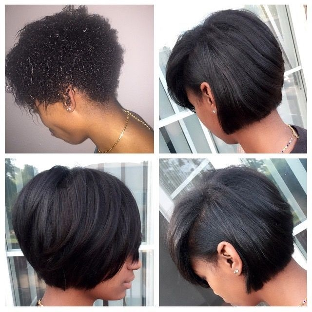 Stylish 3ed8f47525e875108c8a3f4a6be0abbc 640640 natural Short Bob Hairstyles For Relaxed Hair Inspirations