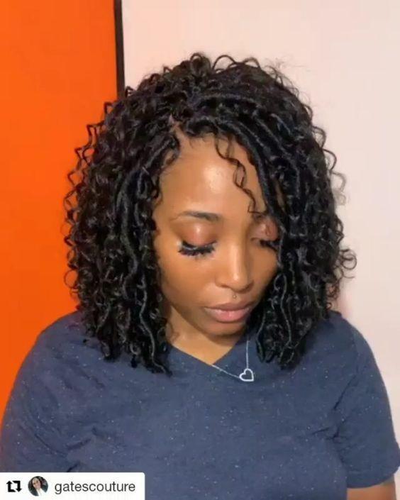 Stylish 40 stylish crochet braids styles on 4c hair to try next Crochet Hair Braiding Styles Ideas