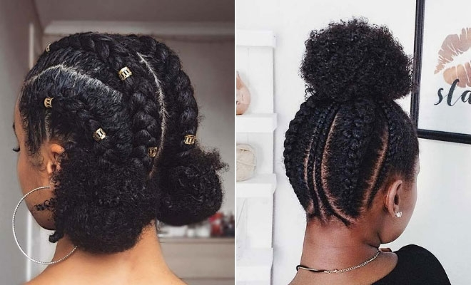 Stylish 45 beautiful natural hairstyles you can wear anywhere stayglam Braided Natural Hair Styles Ideas