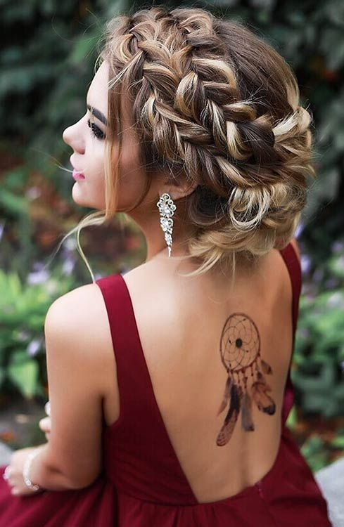 Stylish 47 gorgeous prom hairstyles for long hair stayglam long Prom Hairstyles For Long Hair Updos With Braids Inspirations