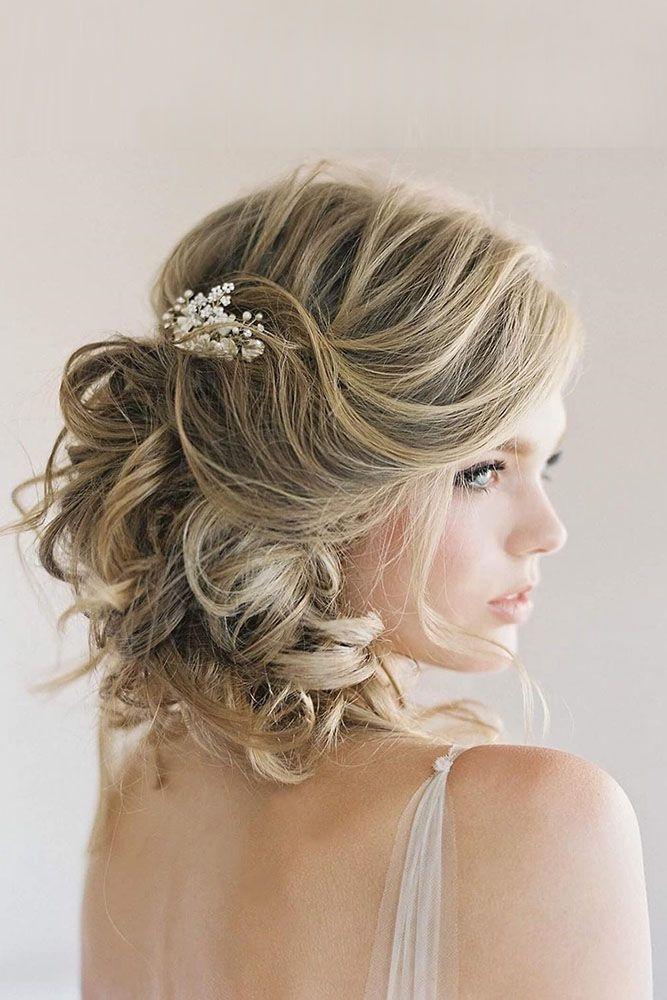 Stylish 48 trendiest short wedding hairstyle ideas wedding forward Curly Wedding Hairstyles For Short Hair Inspirations