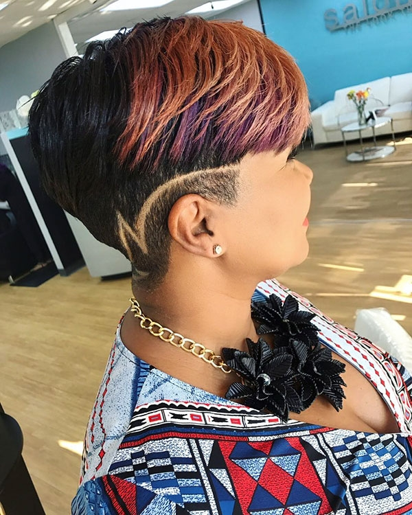 Stylish 50 best short haircuts for black women 2019 Abfrican American Shorthairstyles With Shaved Sides