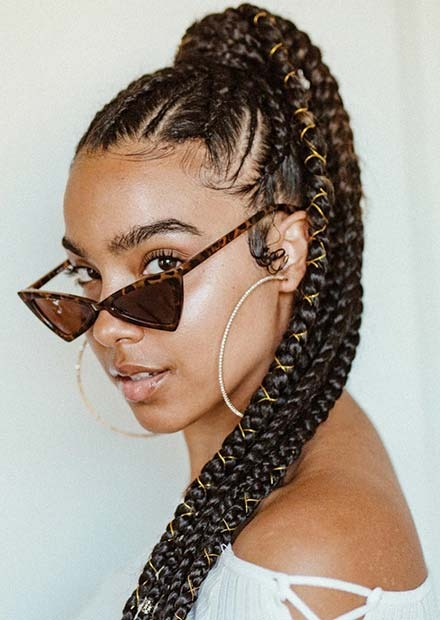Stylish 63 best braided ponytail hairstyles for 2020 stayglam Braided Hair Ponytail Styles Choices