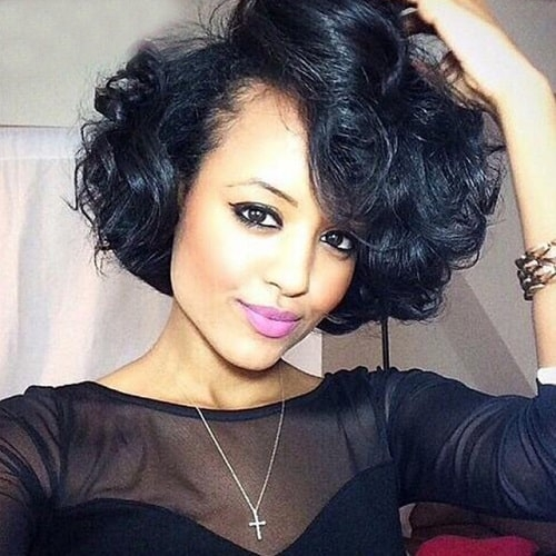 Stylish 70 quick and easy short weave hairstyles hairstylecamp Short Hair Weaves Styles Inspirations