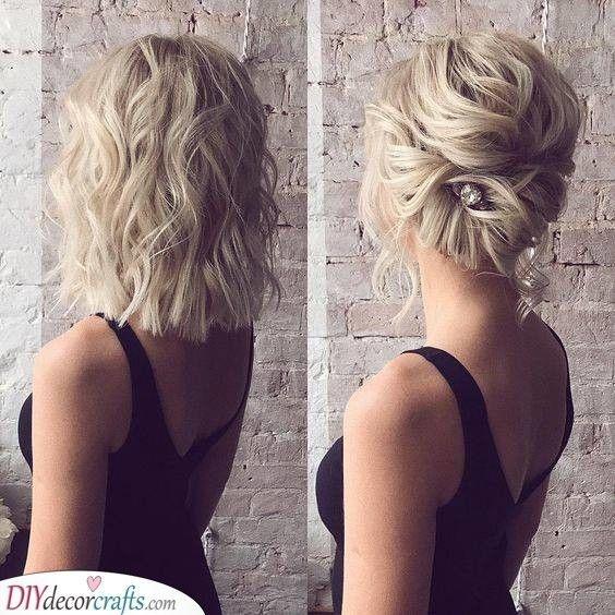Stylish an easy twist wedding hairstyles for medium length hair Bridal Hairstyles For Short Hair Pinterest Inspirations