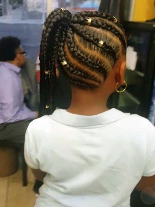Stylish black kids hairstyles with braids beads and accessories African American Kids Braid Styles Ideas