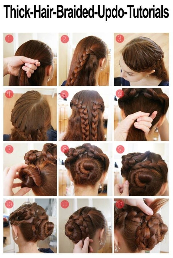 Stylish braided hairstyle for thick hair alldaychic long hair Braided Updos For Long Thick Hair Ideas