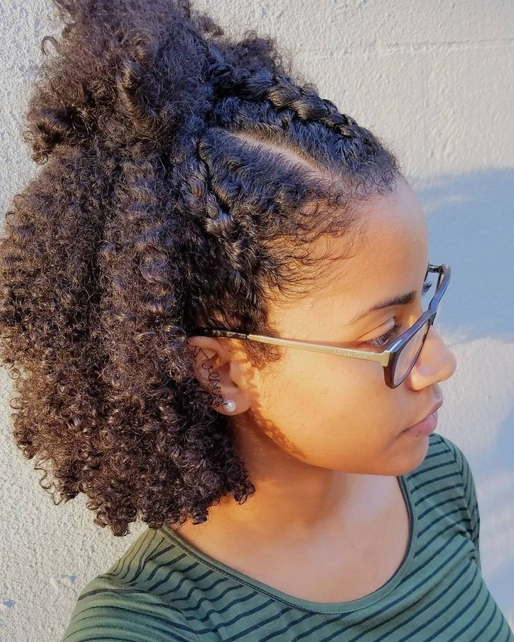 Stylish braiding hairstyles for short natural hair celebrity Cute Styles For Natural African American Hair