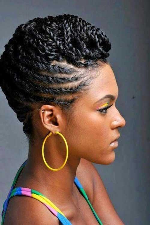 Stylish braids for black women with short hair Black Hair Braid Styles Ideas