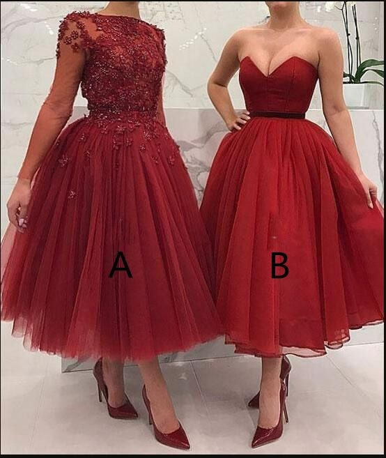 Stylish cheap two styles short prom dresses lace appliques beaded a Cute Hairstyles For Short Prom Dresses Choices