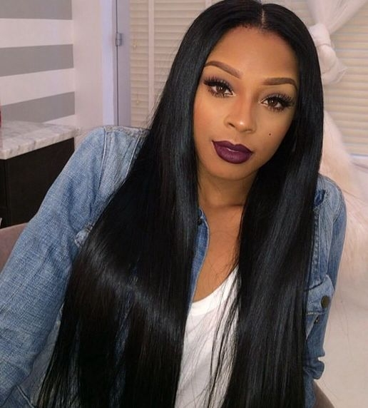 Stylish chinese big brand luxury hair extensions in the highest African American Straight Weave Hairstyles Ideas