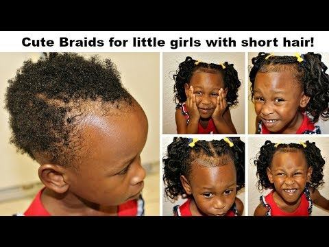 Stylish cute braids for little girls with very short hair no Braiding Styles For Kids With Short Hair Inspirations
