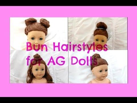 Stylish cute easy bun hairstyles for ag dolls Hairstyles For American Girl Dolls Easy Ideas